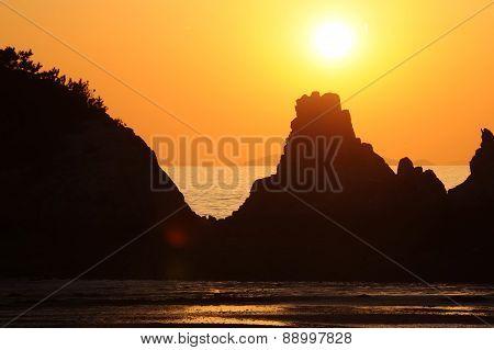 coast at beautiful sunset