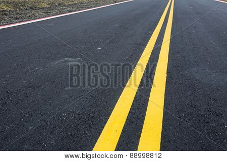Road and yellow line