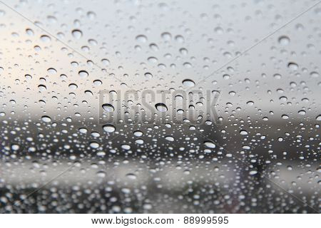 rain fall on glass