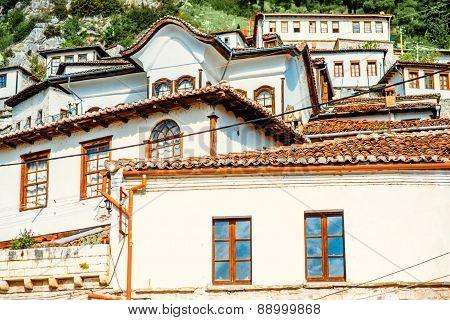 Windows in Berat city