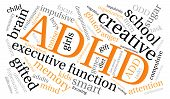 pic of prone  - ADHD word cloud on a white background - JPG