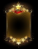 picture of shooting stars  - banner with five gold stars on a dark background - JPG