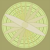 picture of khakis  - Propeller illustration spin on a khaki background - JPG