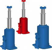 image of hydraulics  - Hydraulic jack to lift the car - JPG