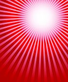 stock photo of starburst  - Radiating converging lines rays background - JPG