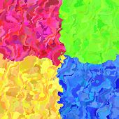foto of lsd  - Crazy abstract melted colorful shapes as wallpaper - JPG