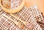 foto of whole-grain  - Organic multi whole grain of jasmine rice - JPG
