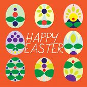 picture of empty tomb  - Decorated eggs for Easter time are given you to celebrate springtime - JPG