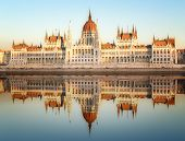 picture of hungarian  - View of hungarian Parliament building at day in Budapest - JPG