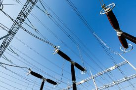 image of electric station  - Specialist electrical surge arresters - JPG