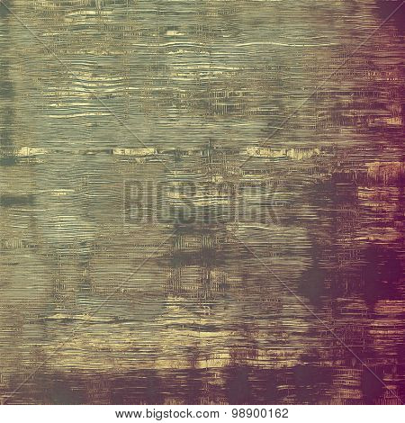 Old grunge background with delicate abstract texture and different color patterns: yellow (beige); brown; green; purple (violet)