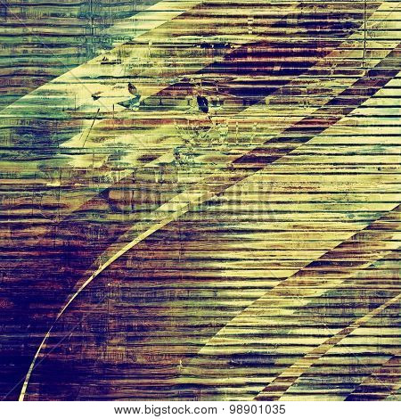 Weathered and distressed grunge background with different color patterns: yellow (beige); brown; green; purple (violet)