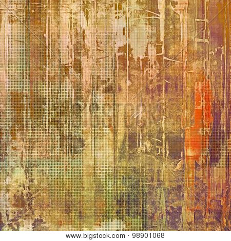 Rough vintage texture. With different color patterns: brown; red (orange); green; purple (violet)