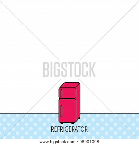 Refrigerator icon. Fridge sign.