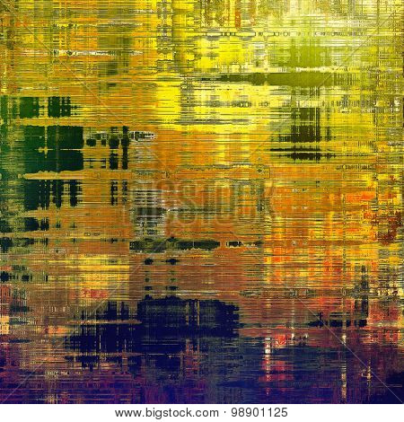 Old grunge template. With different color patterns: yellow (beige); red (orange); green; purple (violet)