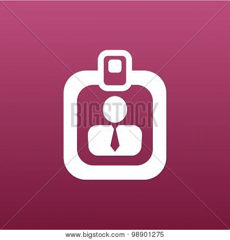 Vector identification card icon  vector profile search