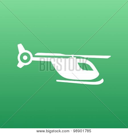 Map marker with icon of a helicopter, vector