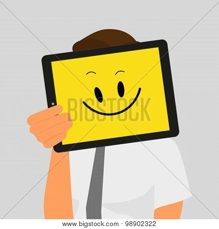 Guy with tablet pc