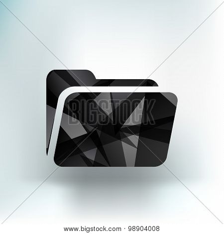 circle icon folder binder isolated file document directory
