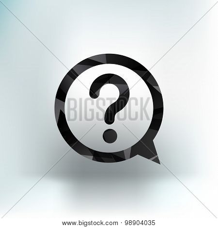 Image question mark icon solution symbol business