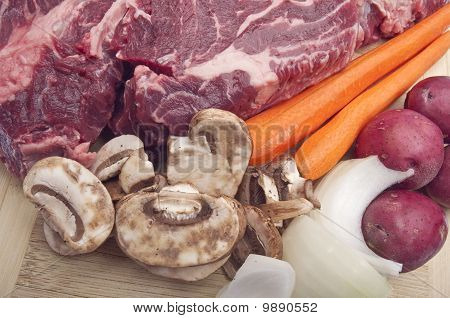 Pot Roast Dinner Preparation