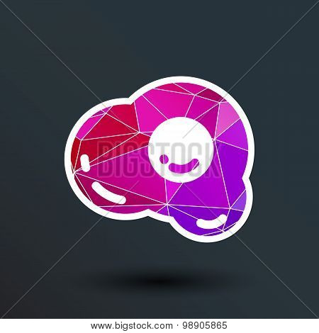fried egg icon logo vector food meal