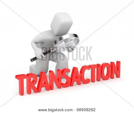 Person examines their transactions