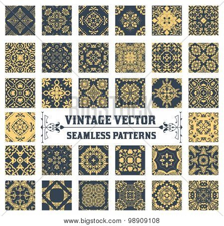 34 Seamless Patterns Background Collection