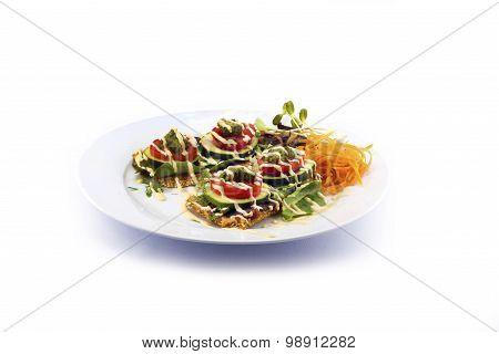 cucumber tomato mushroom sesame seed salad