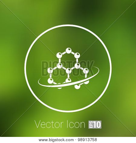 Molecule icon atom chemistry vector symbol element