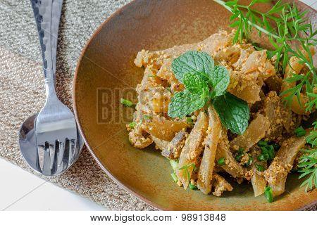 Spicy Pig Skin Or Yum Yum Pork Skin, Thai Food