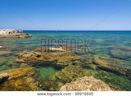 Rocky Kalithea Beach On Rhodes