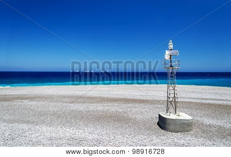 North Tip Of Rhodes Where The Aegean And Mediterranean Meet