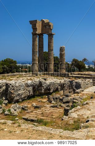 Acropolis Of Rhodes At Monte Smith On Rhodes, Greece