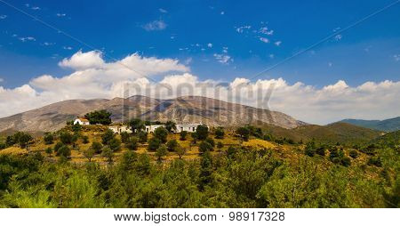 View Of Ataviros Mountain And Farms
