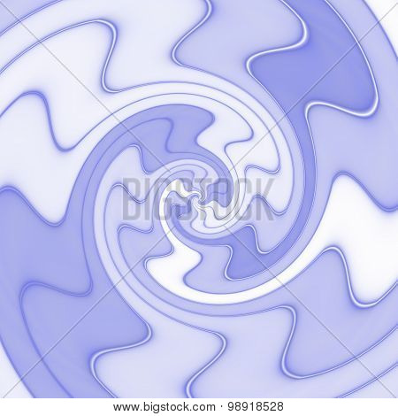 Abstract Spiral Texture In Blue