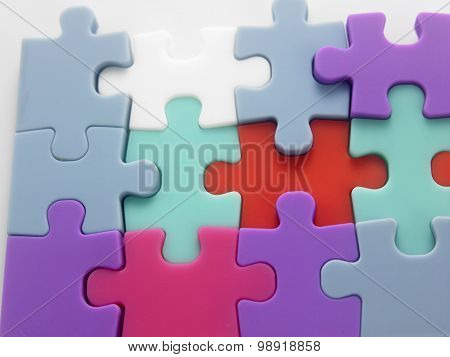 jig saw puzzle connected together