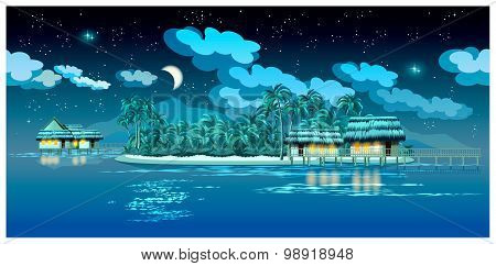 Paradise Islands At Night