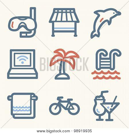 Vacation web icons