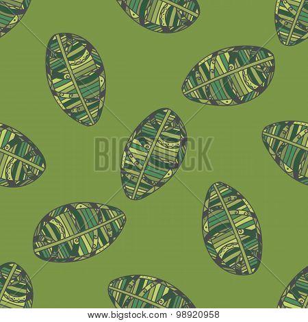 Green Leafs seamless Pattern