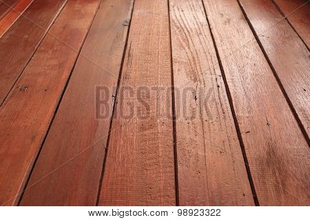 Brown Wood Plank Deck Background