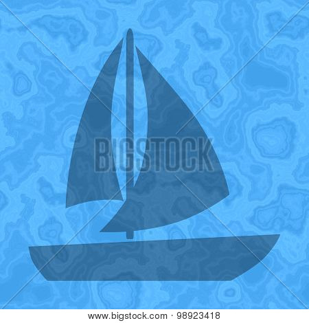 Seamless Sailing Boat Generated Texture Background In Blue