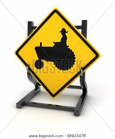 Road Sign - Tractor