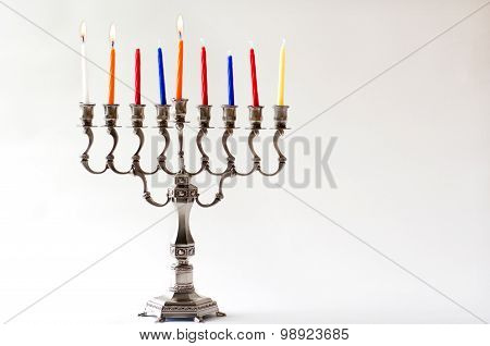 Hanukkah Menorah - Secound Day Of Hanukkah