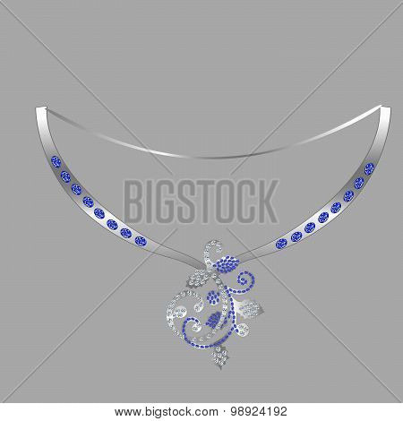 decorating with pendant of precious stones