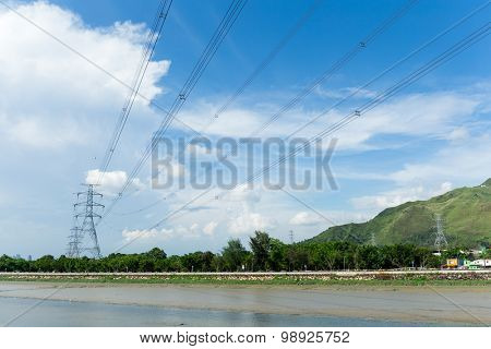 Electricity power transmission tower