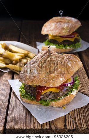 Homemade Ciabatta Burger