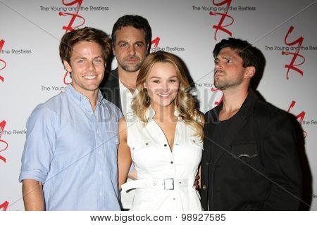 LOS ANGELES - AUG 15: Lachlan Buchanan, Chris McKenna, Hunter King, Robert Adamson at the