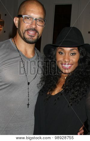 LOS ANGELES - AUG 15:  Terrell Tilford, Angell Conwell at the