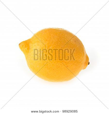 Lemon Fruit Sour Isolated On White Background